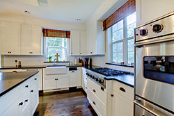 black granite white cabinets Granite kitchen - Akron Akron